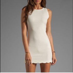 For Love & Lemons White Scallop Dress Rosarita